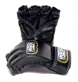 Luva de MMA Profissional Sintética com Velcro Preta - Punch
