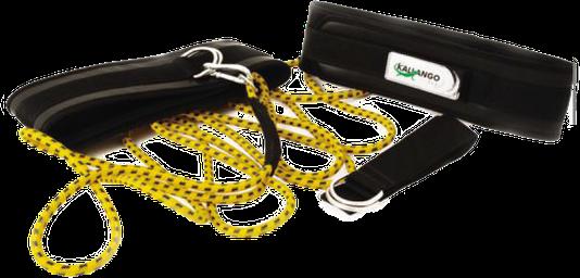 Cinturão de Tração DUPLO (2 Cinturões + 1 corda 6 Mts) - Kallango