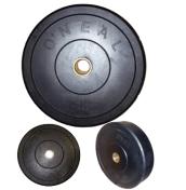 Anilha Borracha para Crossfit e Levantamento - Furo Olímpico 10kg - Oneal