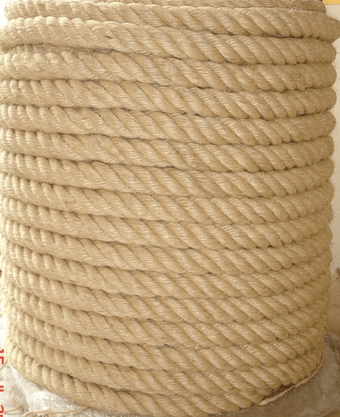 Corda Naval Torcida Sisal Natural 48mm