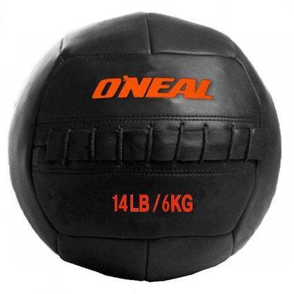 Wall Ball 6kg / 14 Libras Bola de Couro para Crossfit e Treinamento Funcional -Oneal