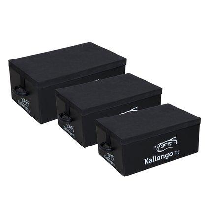 Caixas para Salto Pliométrico - Kit 3 Peças - Plyo Box - Kallango Fit