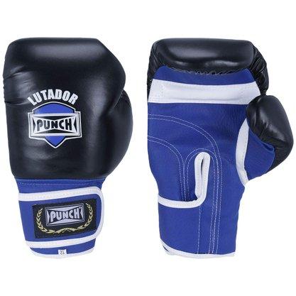 Luva de Boxe Amador Preta/Azul 12 oz - Punch
