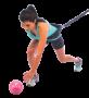 Bola Tonificadora com Peso - 1kg Rosa - Acte Sports